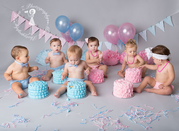 Babies Eating Cake
