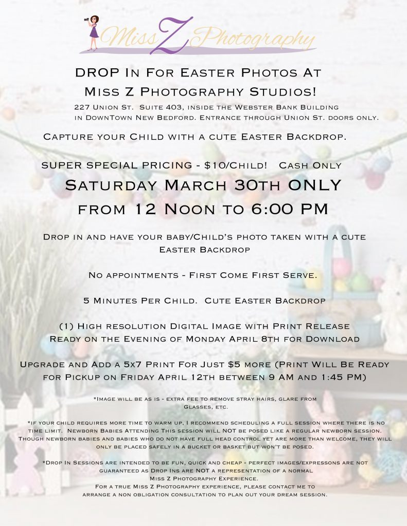 Easter Drop In Photos Special Details