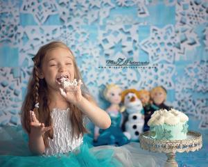 Frozen themed Smash Cake for  Six Year Old Girl